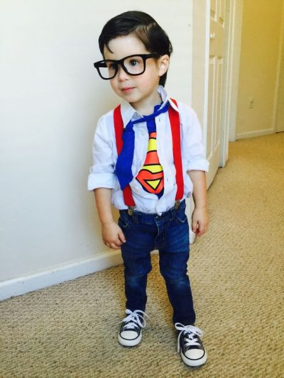 He's the CUTEST! OMG | Clark Kent Superman Halloween Costume Toddler Boy