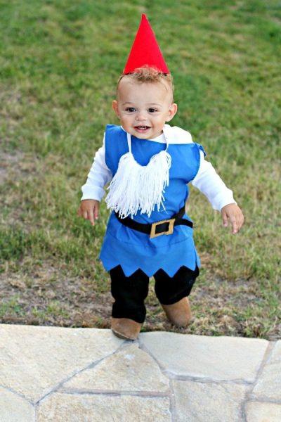 OMG! He's SO CUTE! | DIY Garden Gnome Halloween Costume for Boy Toddler