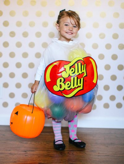 This is TOO ADORABLE! | DIY Jelly Bean Halloween Costume for Toddler Girls