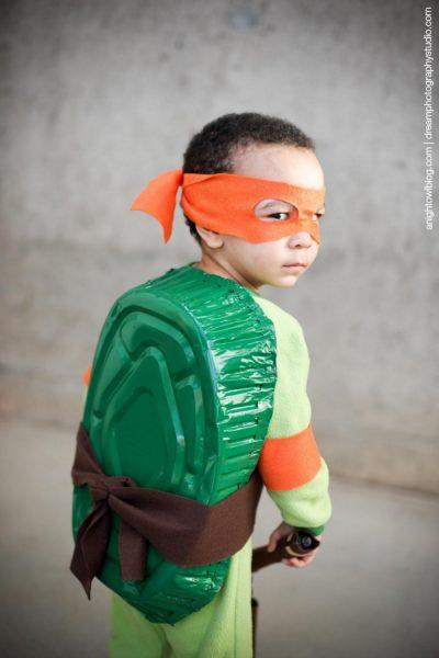 OMG this costume is SO CUTE! | DIY Teenage Mutant Ninja Turtle Halloween Costume for Boy Toddler