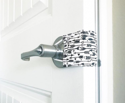 Slip a piece of fabric over the doorknobs to block the door from latching. This will stop angry toddlers from locking themselves in their rooms. | Toddler Parenting Hacks