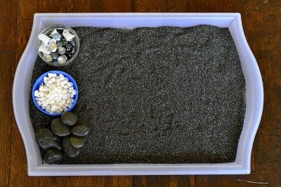 This sensory bin is genius! Love the idea of the ghosts!