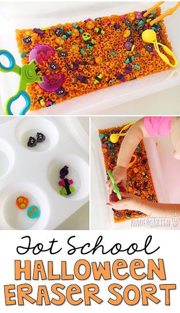 My toddler loved this sensory bin for Halloween!