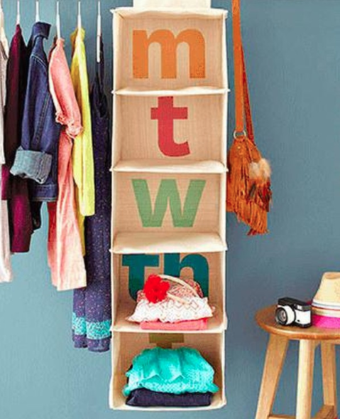 I love this idea for organizing clothes in my toddler's bedroom. | 9 Ways to Organize Toddler Bedroom on a Budget