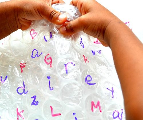 Write the ABCs on bubble wrap then... | 10 Indoor Activities for Toddlers