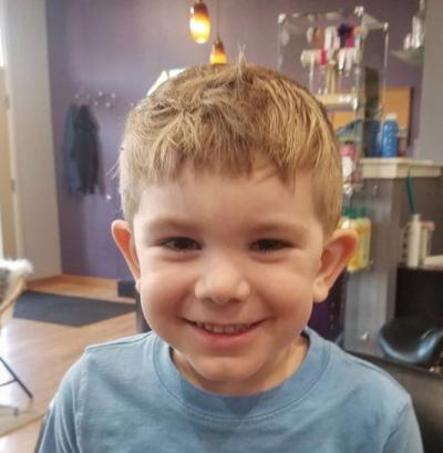 He's so cute! loving this hair cut!