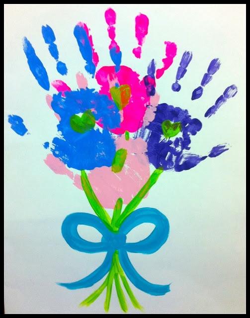 Toddler valentine's crafts- flower bouquet